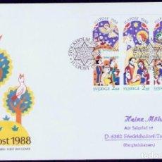 Sellos: SUECIA.1988. FDC. NAVIDAD. Lote 295277683