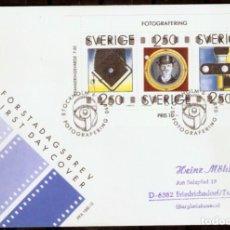 Sellos: SUECIA. 1990. FDC. . 150 ANIVERSARIO DE LA FOTOGRAFÍA.. Lote 295278783