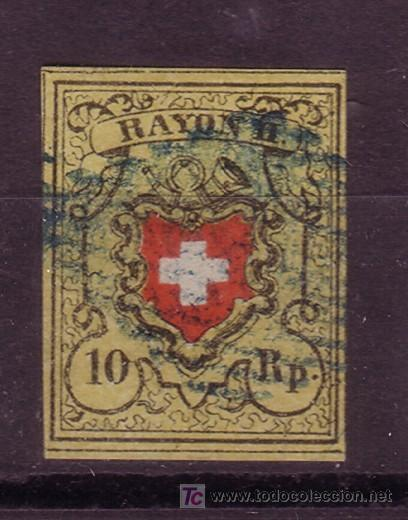 SUIZA 15 - AÑO 1850 - ESCUDO (Sellos - Extranjero - Europa - Suiza)