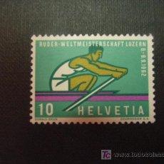 Sellos: SUIZA Nº YVERT 690 *** AÑO 1962. CAMPEONATO MUNDO DE REMO, EN LUCERNA. Lote 5072317