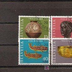 Sellos: SUIZA,PRO PATRIA 1973,SERIE COMPLETA,USADA,MATASELLO REDONDO.. Lote 6325732