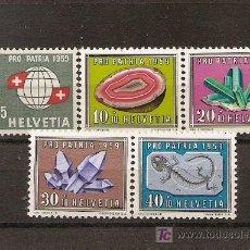 Sellos: SUIZA,PRO PATRIA 1959,SERIE COMPLETA,NUEVA CON GOMA.. Lote 7350458