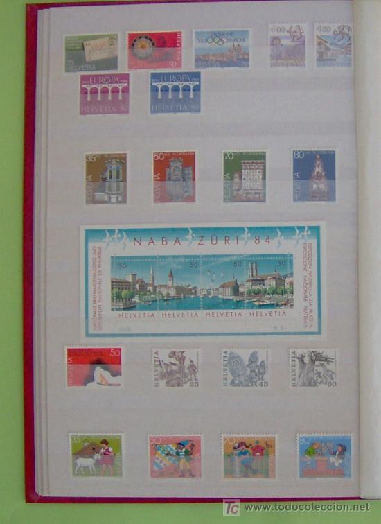 SELLOS DE SUIZA AÑO 1984 COMPLETO. (Sellos - Extranjero - Europa - Suiza)