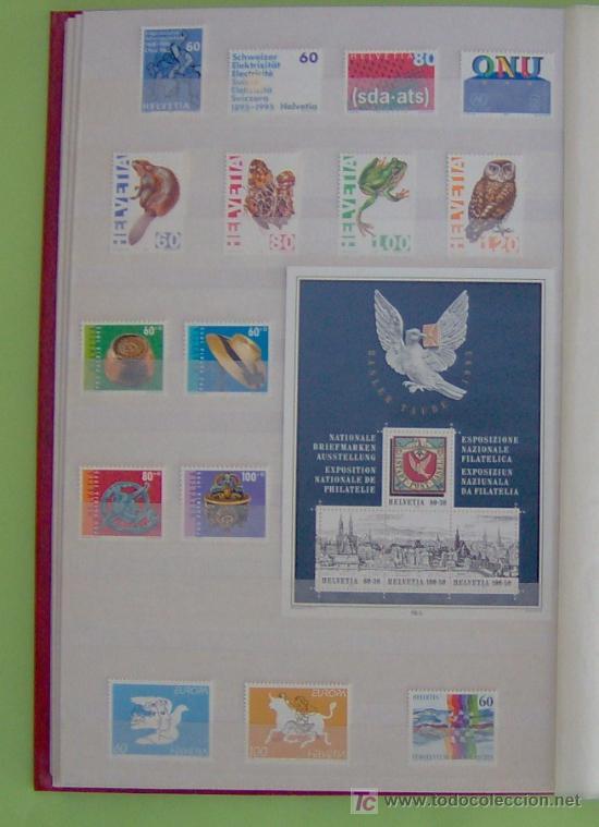 SELLOS DE SUIZA AÑO 1995 COMPLETO. (Sellos - Extranjero - Europa - Suiza)