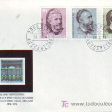 Sellos: SUIZA. 958/60 SPD CENTENARIO UPU. HEINRICH VON STEPHAN. 1974. Lote 7825597