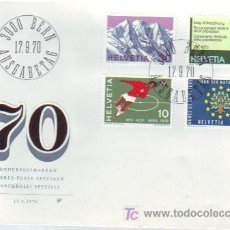 Sellos: SUIZA. 864/67 SPD PROPAGANDA: FÚTBOL, CENSO, AÑO DE LA NATURALEZA, ALPES SUIZOA. 1970. Lote 7825627