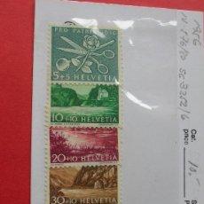 Sellos: SUIZA 1956 IVERT 576/80 *** POR LA PATRIA - PAISAJES. Lote 17216046
