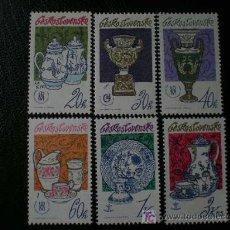 Sellos: CHECOSLOVAQUIA 1977 IVERT 2217/22 *** PORCELANA CHOCOSLOVACA - CERAMICA. Lote 8799636