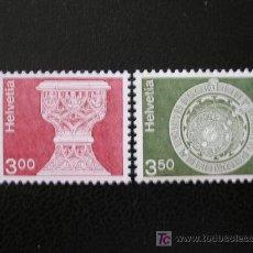 Sellos: SUIZA 1979 IVERT 1090/1 *** SERIE BÁSICA - ARQUITECTURA Y TRABAJO ARTESANAL. Lote 19663093