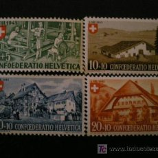 Sellos: SUIZA 1945 IVERT 419/22 *** FIESTA NACIONAL - PRO MADRES NECESITADAS. Lote 23131605