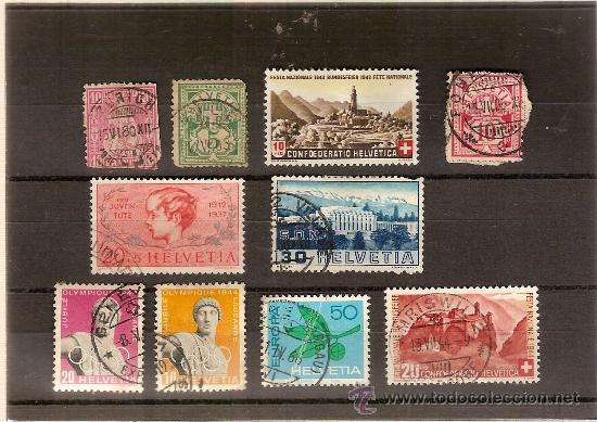 CONJUNTO SELLOS DE SUIZA REF 001 (Sellos - Extranjero - Europa - Suiza)