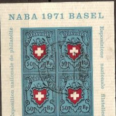 Sellos: HB NABA 1971 SUIZA BASEL REF 001. Lote 11734703