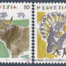 Sellos: IVERT Nº 1389/90, BUEY Y PAVO, NUEVO. Lote 13703052