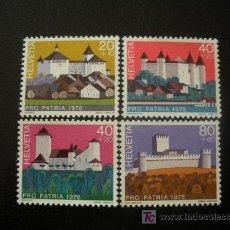 Sellos: SUIZA 1976 IVERT 1005/8 *** POR LA PATRIA - CASTILLOS SUIZOS. Lote 11910948