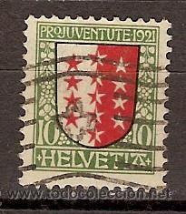 SELLO USADO SUIZA 18 ZUMSTEIN PRO JUVENTUD 1921 (Sellos - Extranjero - Europa - Suiza)