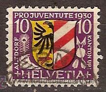 SELLO SUIZA 54 ZUMSTEIN PRO JUVENTUD 1930 (Sellos - Extranjero - Europa - Suiza)