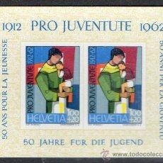 Sellos: SUIZA AÑO 1962 YV HB 18*** 50 ANVº DE LA JUVENTUD - PRO JUVENTUD - NIÑOS. Lote 26604270