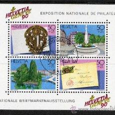 Sellos: SUIZA AÑO 1990 - YV HB 26*º EXPOSICIÓN FILATÉLICA GINEBRA'90 - CORREOS. Lote 26931198