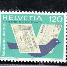 Sellos: SUIZA SERVICIO 462 SIN CHARNELA, PALOMA, CUPON RESPUESTA, GIRO POSTAL, U.P.U. UNION POSTAL UNIVERSAL. Lote 14161969