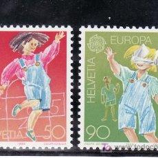 Sellos: SUIZA 1323/4 SIN CHARNELA, TEMA EUROPA, JUEGOS INFANTILES, . Lote 14186666