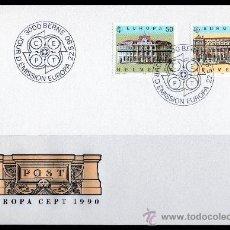 Sellos: SUIZA - SPD - AÑO 1990 - EUROPA - EDIFICIOS POSTALES - ARQUITECTURA . Lote 14429689