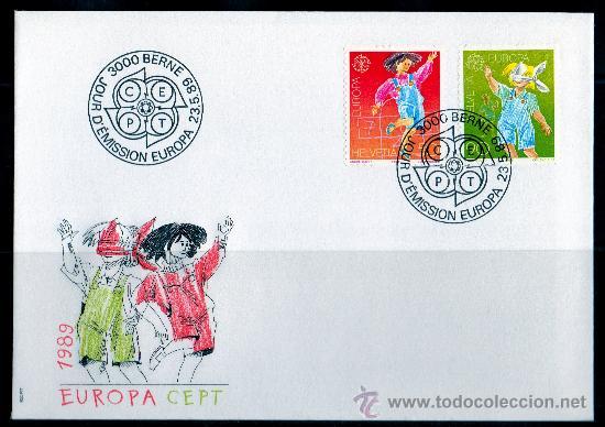 SUIZA AÑO 1989 YV 1323/24 SPD - EUROPA - PRO INFANCIA - JUEGOS INFANTILES - NIÑOS (Sellos - Extranjero - Europa - Suiza)