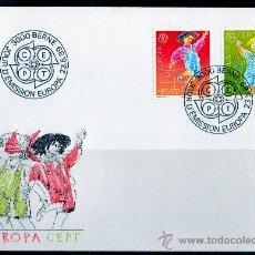 Sellos: SUIZA AÑO 1989 YV 1323/24 SPD - EUROPA - PRO INFANCIA - JUEGOS INFANTILES - NIÑOS. Lote 14429787
