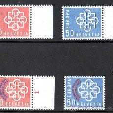 Sellos: SUIZA AÑO 1959 YV 630/1 + 632/3*** EUROPA + CONFERENCIA EUROPEA DE PTT - TELECOMUNICACIONES. Lote 26276160