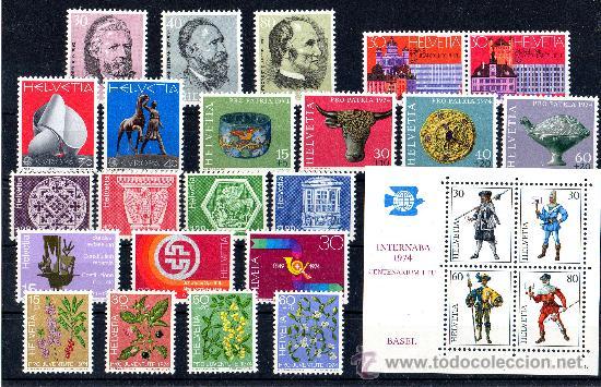 SUIZA AÑO 1974 YV 958/75 + B22*** (Sellos - Extranjero - Europa - Suiza)