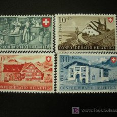 Sellos: SUIZA 1946 IVERT 428/31 *** FIESTA NACIONAL - PRO SUIZOS RESIDENTES EN EL EXTRANJERO. Lote 23131611
