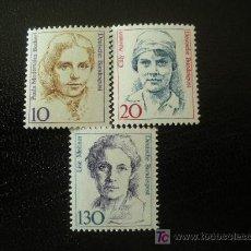 Sellos: ALEMANIA FEDERAL 1988 IVERT 1191/3 *** MUJERES DE LA HISTORIA ALEMANA - PERSONAJES. Lote 14772636