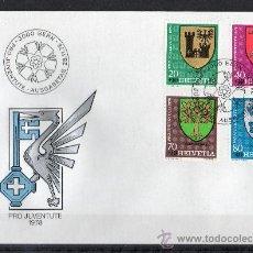 Sellos: SUIZA - SPD - AÑO 1978 - PRO JUVENTUD - ESCUDOS CANTONALES - HERÁLDICA. Lote 14922313