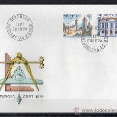 Sellos: SUIZA - SPD - AÑO 1978 - EUROPA-CEPT - MONUMENTOS - ARQUITECTURA. Lote 14929097