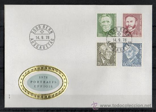 SUIZA - SPD - AÑO 1978 - PERSONAJES CÉLEBRES (Sellos - Extranjero - Europa - Suiza)