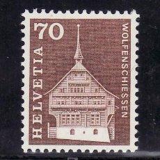 Sellos: SUIZA 795 SIN CHARNELA, CASA DE LOS CABALLEROS LUSSY . Lote 17066095