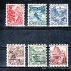 Sellos: SUIZA 461/6 CON CHARNELA, PARQUES NACIONALES, . Lote 17166071