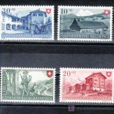Sellos: SUIZA 457/60 CON CHARNELA, FIESTAS NACIONALES, . Lote 17166084