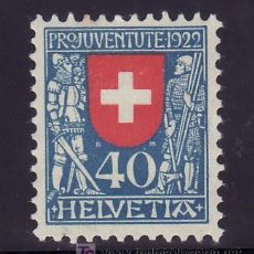 Sellos: SUIZA 191 SIN GOMA, ESCUDO, WINKELRIED Y DUQUE LEOPOLD II DE AUSTRIA. Lote 18747840