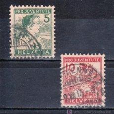 Sellos: SUIZA 149/50 USADA, PRO JUVENTUD, NIÑO DE APPENZELL, LUCERNA . Lote 17197655