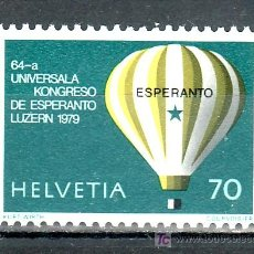 Sellos: SUIZA 1078 SIN CHARNELA, GLOBO, CONGRESO MUNDIAL DE ESPERANTO EN LUCERNA . Lote 17201649