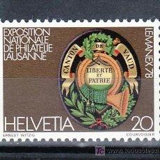 Sellos: SUIZA 1046 SIN CHARNELA, LEMANEX 78, EXPOSICION NACIONAL DE FILATELIA. Lote 17202594