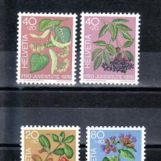 Sellos: SUIZA 1013/6 SIN CHARNELA, PRO JUVENTUD, PLANTAS MEDICINALES FORESTALES,. Lote 178931137