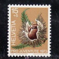 Sellos: SUIZA 943 SIN CHARNELA, FRUTOS DEL BOSQUE, CASTAÑA, . Lote 103845868