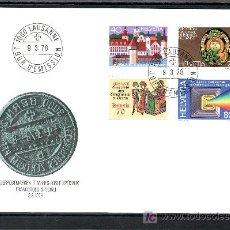 Sellos: SUIZA 1046/9 PRIMER DIA, EXPOSICION FILATELIA, ANIVº CIUDAD LUCERNA, IMPRENTA, FOTOGRAFIA, . Lote 18764295