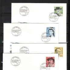 Sellos: SUIZA 1349/52 PRIMER DIA, CONRAD FERDINAND, ANGELIKA KAUFFMANN, BLAISE CENDRARS, FRANK BUCHSER . Lote 26134661