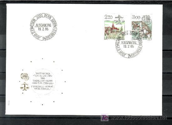 SUIZA 1217/8 PRIMER DIA, SIGNO DEL ZODIACO, LIBRA, ESCORPION (Sellos - Extranjero - Europa - Suiza)