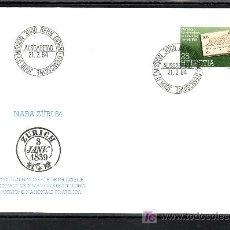 Sellos: SUIZA 1196 PRIMER DIA, EXPOSICION NACIONAL DE FILATELIA EN ZURICH. Lote 18692965