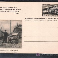 Sellos: SUIZA TARJETA POSTAL TIPO 442 NUEVO, FF.CC., CENTENARIO DEL FERROCARRIL FEDERAL, . Lote 23953155