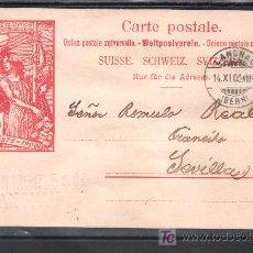 Sellos: SUIZA TARJETA POSTAL CIRCULADA DE LANGNAU- BERN A SEVILLA . Lote 23953157