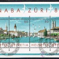 Sellos: SUIZA AÑO 1984 YV HB 24*º EXPOSICIÓN NACIONAL DE FILATÉLIA NABA'84 - TURISMO. Lote 19572616